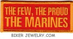 """THE FEW, THE PROUD  THE MARINES  Military Patch  1 1/2 """" x 4""""  FREE SHIPPING - Product Image"""