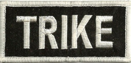 """TRIKE Biker Patch3 1/4 """" x 3""""Available in 2 ColorsFREE SHIPPING - Product Image"""