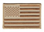 Tan USA Flag  Military Patch  Two Sizes  FREE SHIPPING - Product Image