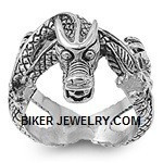 The Dragon Ring Stainless SteelSizes 8-17FREE SHIPPING - Product Image