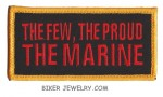 """The Few, The Proud, The Marine  Military Patch  4"""" x 2""""  FREE SHIPPING - Product Image"""