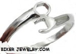 CLOSE OUT PRICE  Wrench Bangle Bracelet  Two Sizes  Men's and Ladies  Stainless Steel  FREE SHIPPING - Product Image