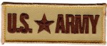 "U.S. ARMY  Military Patch  1 1/2 "" x 4""  FREE SHIPPING - Product Image"