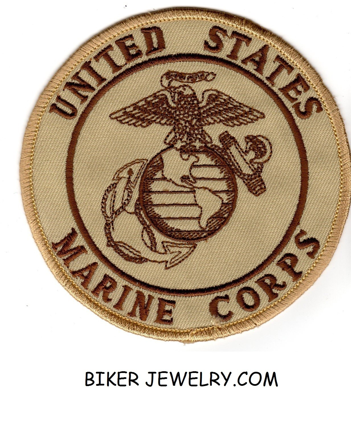 U.S. MARINE CORPS  Military Patch  TWO Sizes Round  FREE SHIPPING - Product Image