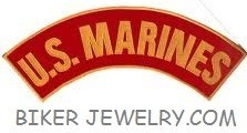 """U.S. MARINES  Top or Bottom Rocker  Military Patch  3"""" x 11""""  FREE SHIPPING - Product Image"""