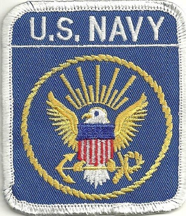 "U.S. NAVY  Military Patch  3 1/4 "" x 3""  FREE SHIPPING - Product Image"
