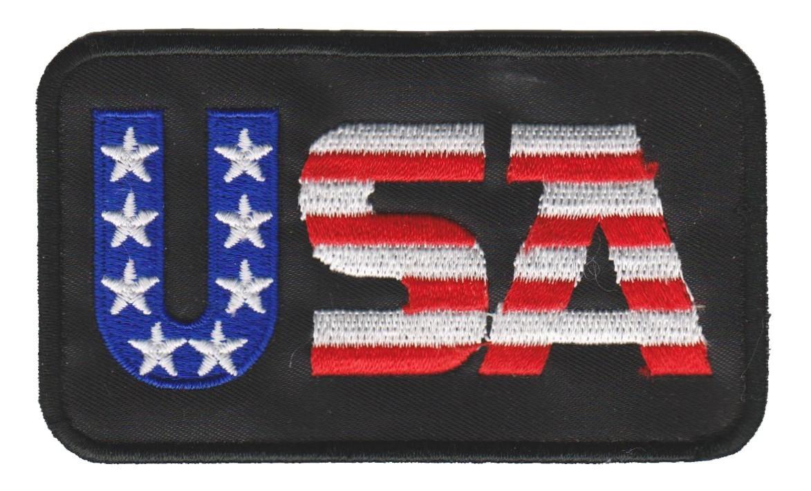 "USA  Biker Patch 3 1/2 "" x 2""FREE SHIPPING - Product Image"