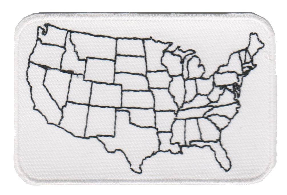 USA Map Motorcycle Patch 3 x 2 FREE SHIPPING