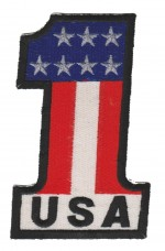USA Number 1 Motorcycle Biker PatchAvailable in 2 SizesFREE SHIPPING - Product Image