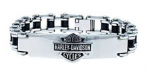 Harley-Davidson®  Stainless Steel  Bike Chain Logo  ID Bracelet  by Mod ®  - Product Image