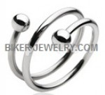 CLOSE OUT PRICE  Unisex  Stainless Steel  Spiral Ring  Sizes 5-13  FREE SHIPPING - Product Image