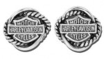 Women's  Harley-Davidson ®  Sterling Silver Woven Circle Earrings  - Product Image