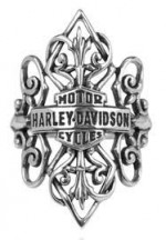 Women's Ring  Harley-Davidson ®  Antique Filigree  in Sterling Silver  by Mod ®  Available in Sizes 4-10 - Product Image