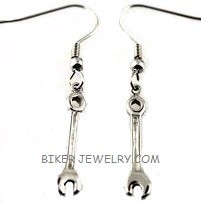 Wrench Dangle Earrings  Stainless Steel  FREE SHIPPING - Product Image