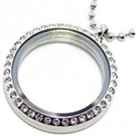 locket charm necklace  FREE SHIPPING - Product Image