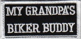 "(small) My Grandpa's Biker Buddy Biker Patch2"" x 3 1/2 ""FREE SHIPPING - Product Image"