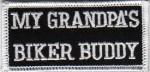 """(small) My Grandpa's Biker Buddy Biker Patch2"""" x 3 1/2 """"FREE SHIPPING - Product Image"""