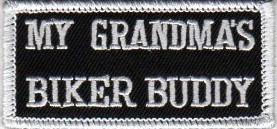 "(small) My Grandma's Biker Buddy Biker Patch2"" x 3 1/2 ""FREE SHIPPING - Product Image"