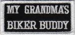 """(small) My Grandma's Biker Buddy Biker Patch2"""" x 3 1/2 """"FREE SHIPPING - Product Image"""