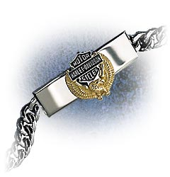 Harley-Davidson® / Franklin Mint's  Wings of Freedom Bracelet for men - Product Image