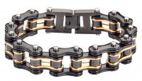 3/4 inches Wide Stainless Steel Motorcycle Bike Chain Bracelet for Men 5 Lengths  FREE SHIPPING - Product Image