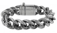 BRACELET  Stainless Steel  Designer Curb Link  2 Lengths  FREE SHIPPING - Product Image