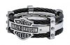 Harley-Davidson ®  Steel Black Cable  Men's Ring  Available in Sizes 9-13HSR0022