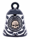 Harley-Davidson ® /Mod ®  Black Ride Bell ®  Chrome Flames  FREE SHIPPING HRB083