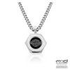 Harley-Davidson®  Stainless Steel  Hexagon Logo Necklace  Curb Link  by Mod®HSN0022