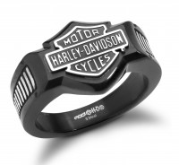 Harley-Davidson ® Black Knight Men's Signet Ring Stainless SteelAvailable in Sizes 9-16HSR0055 - Product Image