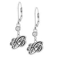 Harley-Davidson ® Ladies Sterling Silver HD Script Dangle EarringsHDR0000 - Product Image