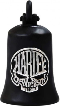 Harley-Davidson ® /Mod Jewelry® Calavera Black Skull Motorcycle Ride Bell ®  FREE SHIPPINGHRB103 - Product Image