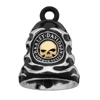 Harley-Davidson ® Mod ® Ride Bell ® Skull and Flames  FREE SHIPPING HRB083 - Product Image