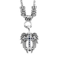 "Angel Wing & Cross Pendant With 4mm Foxtail Necklace 19"" Stainless Steel 3 Colors FREE SHIPPING - Product Image"