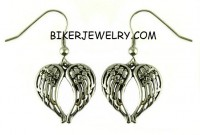 Ladies Dangle Angel Wing Earrings  Stainless Steel  FREE SHIPPING - Product Image