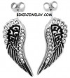Ladies Post Angel Wing Earrings  Stainless Steel  FREE SHIPPING