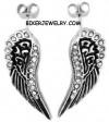 Ladies Angel Wing Post Earrings Stainless Steel  FREE SHIPPING