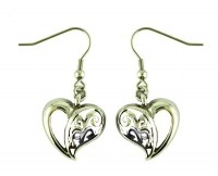 Ladies Free Form Heart Earrings  Stainless Steel  FREE SHIPPING - Product Image