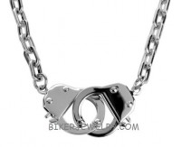 Stainless Steel Handcuff Necklace   In 3 Lengths  FREE SHIPPING - Product Image