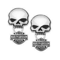 Men or Women's Harley-Davidson® Biker Sterling Silver Willie G Post Earrings Mod Jewelry®HDE0235 - Product Image