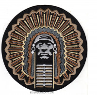 Motorcycle Biker Patch Round Indian FREE SHIPPING - Product Image