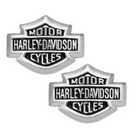 POST EARRINGS Men or Women Harley-Davidson ® Sterling Silver Mini Bar & Shield Made by Mod ®HDE0085 - Product Image