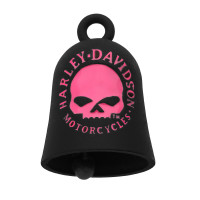 RIDE BELL ® Harley-Davidson ®  Black with a Pink Willie G Skull Mod Jewelry® FREE SHIPPING HRB060 - Product Image