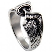 Women's  Stainless Steel Motorcycle Winged Wheel  Classic Biker Ring  Sizes 5-10  FREE SHIPPING - Product Image