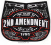 "2nd AMENDMENT  ""The Right To Bear Arms"" Motorcycle Biker Patch  Available in 3 Sizes  FREE SHIPPING"
