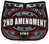 "2nd AMENDMENT  ""The Right To Bear Arms"" Motorcycle Biker Patch  Available in 3 Sizes  FREE SHIPPING - Product Image"