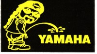 "(Piss on YAMAHA) 3"" x 2"" Black/Yellow - Product Image"