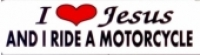 I (HEART) Jesus AND I RIDE A MOTORCYCLE - Product Image