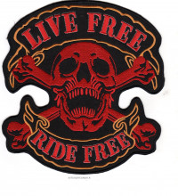 Skull/Crossbones Motorcycle Biker Patch   FREE SHIPPING - Product Image