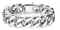 16mm Stainless Steel Bracelet Designer Cuban Link 3 lengths   FREE SHIPPING - Product Image